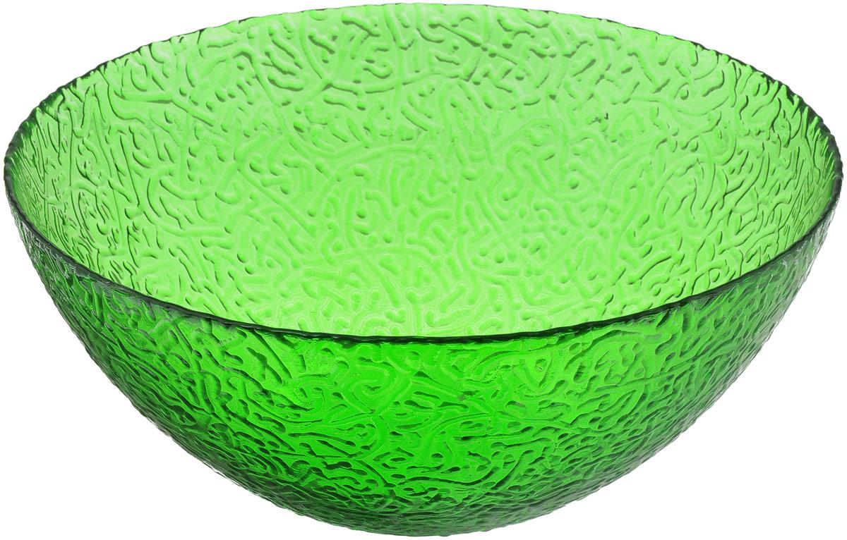 Салатник NiNaGlass Ажур, цвет: зеленый, диаметр 25 см83-043-Ф250 ЗЕЛСалатник NiNaGlass Ажур выполнен из высококачественного стекла и декорирован рельефным узором. Идеален для сервировки салатов, овощей и фруктов, ягод, вторых блюд, гарниров и многого другого. Он отлично подойдет как для повседневных, так и для торжественных случаев. Такой салатник прекрасно впишется в интерьер вашей кухни и станет достойным дополнением к кухонному инвентарю. Диаметр салатника (по верхнему краю): 25 см. Высота стенки: 10,5 см.