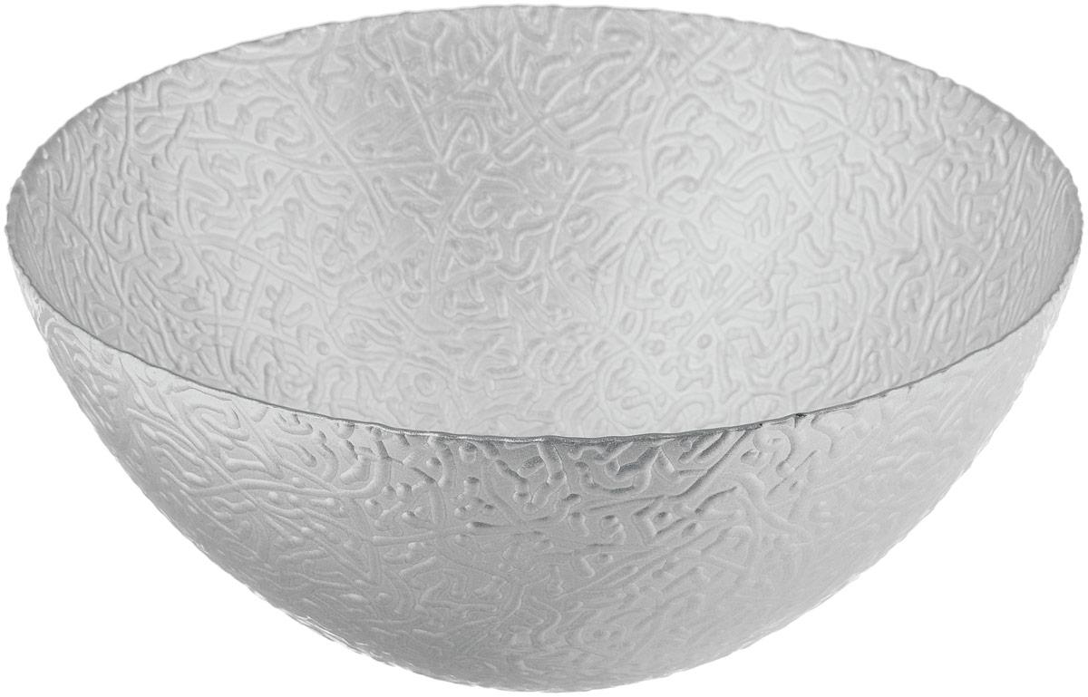 Салатник NiNaGlass Ажур, цвет: серебристый металлик, диаметр 25 см83-043-Ф250 СЕРЕБМЕТСалатник NiNaGlass Ажур выполнен из высококачественного стекла и декорирован рельефным узором. Идеален для сервировки салатов, овощей и фруктов, ягод, вторых блюд, гарниров и многого другого. Он отлично подойдет как для повседневных, так и для торжественных случаев. Такой салатник прекрасно впишется в интерьер вашей кухни и станет достойным дополнением к кухонному инвентарю. Диаметр салатника (по верхнему краю): 25 см. Высота стенки: 10,5 см.