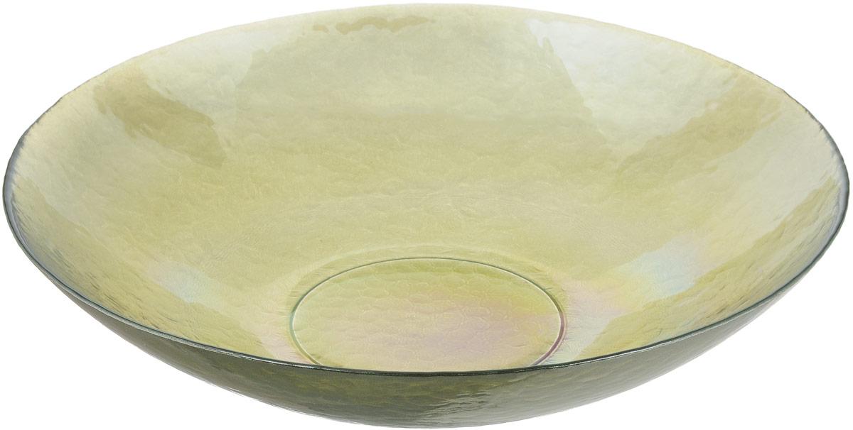 Салатник NiNaGlass Богемия, цвет: оливковый, диаметр 38 см83-065-Ф380 ИТОМСалатник NiNaGlass Богемия выполнен из высококачественного стекла. Идеален для сервировки большого количества салатов, овощей и фруктов, ягод, вторых блюд, гарниров и многого другого. Он отлично подойдет как для повседневных, так и для торжественных случаев. Такой салатник прекрасно впишется в интерьер вашей кухни и станет достойным дополнением к кухонному инвентарю. Диаметр салатника (по верхнему краю): 38 см. Высота стенки: 9 см.