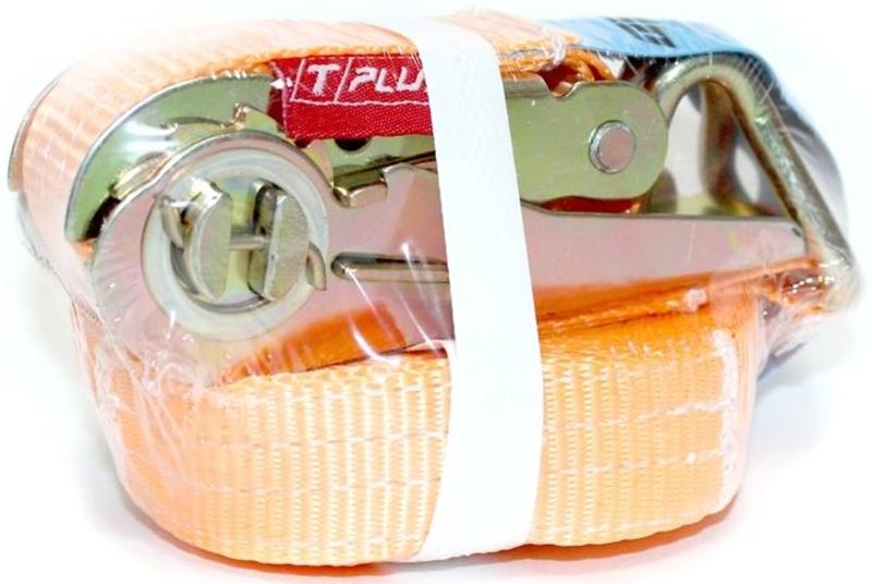 Ремень стяжной Tplus, 1/2 т, 5 мT000664Предельная рабочая нагрузка (WLL): прямое крепление 115 -- 1 т; крепление в обхват 115 - копия -- 2 т; Длина: 5 м; Ширина ленты: 25 мм; Материал: полиэстер; Гарантия: 1 год.