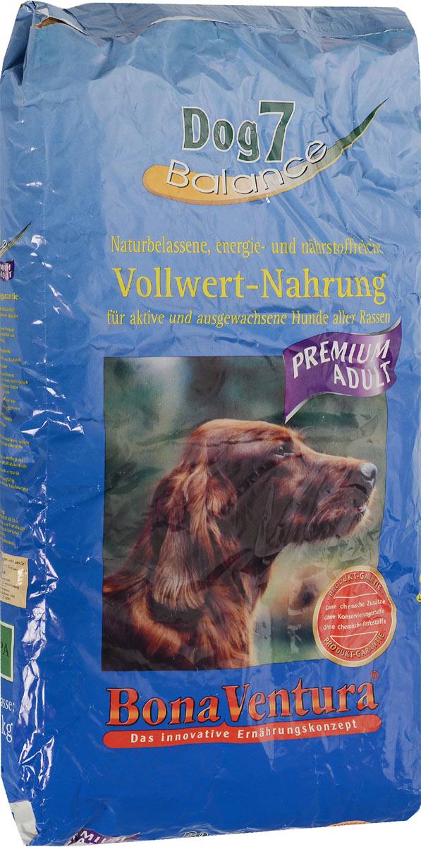 Корм сухой BonaVentura Dog 7 Premium для взрослых собак, 12,5 кг205212Натуральный корм BonaVentura Dog 7 Premium предназначен для взрослых собак всех пород. Он произведен из продуктов, пригодных в пищу человека по специальной технологии, схожей с технологией Sous Vide. Благодаря технологии при изготовлении сохраняются все натуральные витамины и минералы. Это достигается благодаря бережной обработке всех ингредиентов при температуре менее 80 градусов. Такая бережная обработка продуктов не стерилизует продуктовые компоненты. Благодаря этому корма не нуждаются ни в каких дополнительных вкусовых добавках и сохраняют все необходимые полезные вещества. При производстве кормов используются исключительно свежие натуральные продукты: мясо, овощи и зерновые; Приготовлено из 100% свежего мяса, пригодного в пищу человеку; Содержит натуральные витамины, аминокислоты, минеральные вещества и микроэлементы; С экстрактом масла зародышей зерна пшеницы холодного отжима (Bio-Dura); Без химических красителей, усилителей вкуса,...