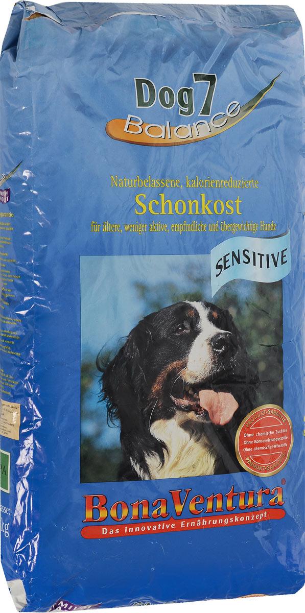 Корм сухой BonaVentura Dog 7 Sensitive для взрослых собак, склонных к полноте, 12,5 кг205312Натуральный корм BonaVentura Dog 7 Sensitive предназначен для взрослых собак, склонных к полноте. Он произведен из продуктов, пригодных в пищу человека по специальной технологии, схожей с технологией Sous Vide. Благодаря технологии при изготовлении сохраняются все натуральные витамины и минералы. Это достигается благодаря бережной обработке всех ингредиентов при температуре менее 80 градусов. Такая бережная обработка продуктов не стерилизует продуктовые компоненты. Благодаря этому корма не нуждаются ни в каких дополнительных вкусовых добавках и сохраняют все необходимые полезные вещества. При производстве кормов используются исключительно свежие натуральные продукты: мясо, овощи и зерновые; Приготовлено из 100% свежего мяса, пригодного в пищу человеку; Содержит натуральные витамины, аминокислоты, минеральные вещества и микроэлементы; С экстрактом масла зародышей зерна пшеницы холодного отжима (Bio-Dura); Без химических красителей, усилителей вкуса,...