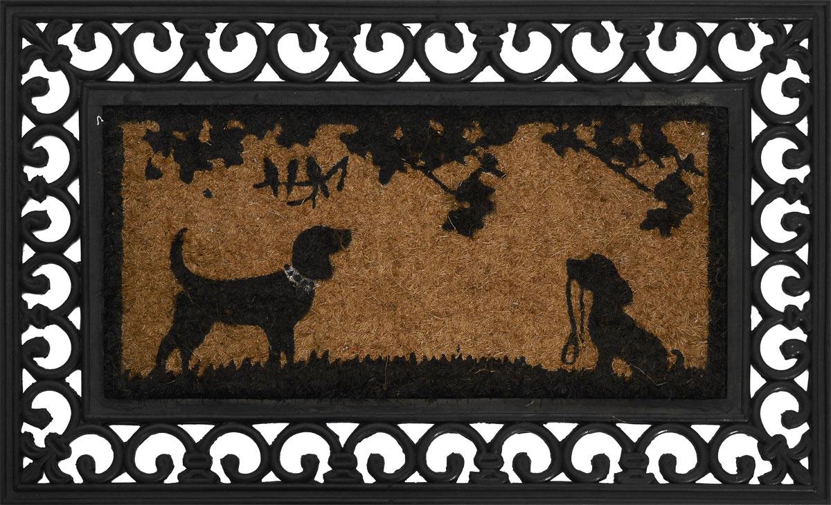 Коврик для домашних животных Happy House, 75 х 45 х 2 см12200Коврик для собак Happy House выполнен из прочной резины и вставкой из кокосового волокна в центре. Благодаря нему пол остается чистым и сухим. Также ваш питомец сможет отдыхать на данном коврике.