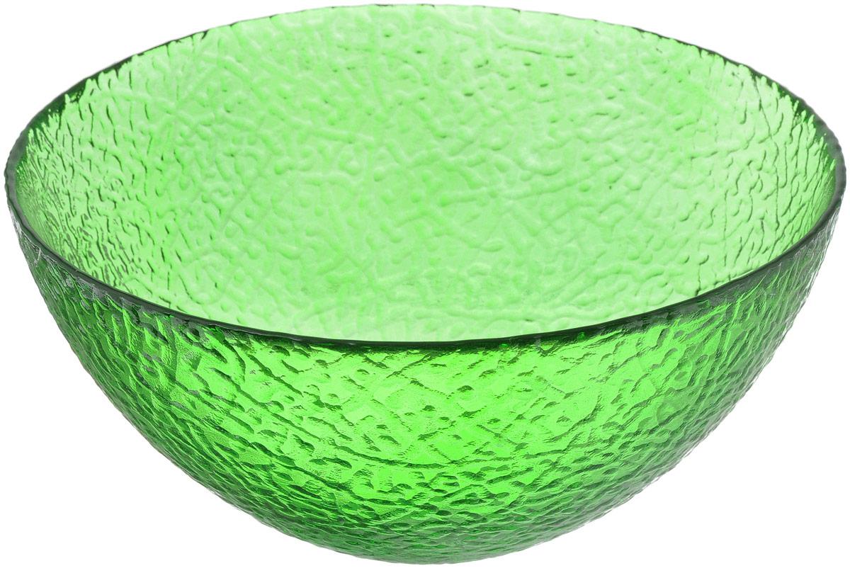 Салатник NiNaGlass Ажур, цвет: зеленый, диаметр 20 см83-042-Ф200 ЗЕЛСалатник NiNaGlass Ажур выполнен из высококачественного стекла и декорирован рельефным узором. Идеален для сервировки салатов, овощей и фруктов, ягод, вторых блюд, гарниров и многого другого. Он отлично подойдет как для повседневных, так и для торжественных случаев. Такой салатник прекрасно впишется в интерьер вашей кухни и станет достойным дополнением к кухонному инвентарю. Диаметр салатника (по верхнему краю): 20 см. Высота стенки: 9 см.