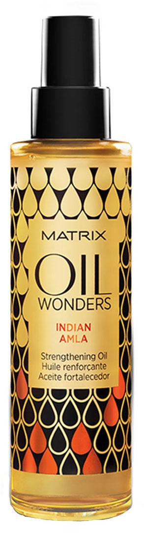 Matrix Oil Wonders Укрепляющее масло индийское амла, 150 млE2082400Ароматное масло восстанавливает структуру ломких и ослабленных волос. Увеличивает прочность волос в 4 раза. Лечит хрупкие волосы от луковицы и до самих кончиков. Возвращает волосам эластичность, мягкость и блеск. Имеет душистый экзотический аромат, который переносит вас в Индию. В качестве укрепляющих элементов масло Амла содержит кальций, железо, фосфор, файбер-протеин.