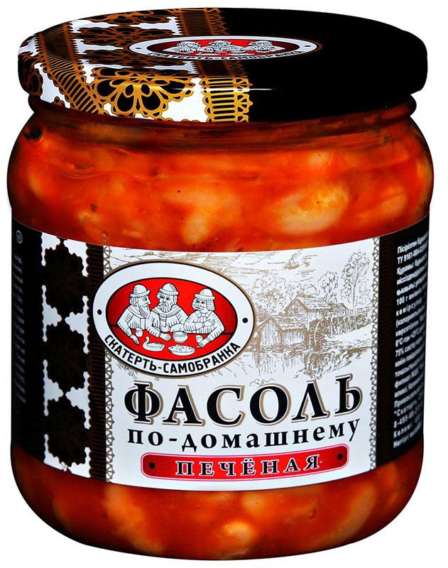 Скатерть-Самобранка фасоль печеная, 450 мл4607067557520Фасоль печеная в томатном соусе по-домашнему рецепту. Готовое блюдо станет превосходной закуской на праздничном столе.