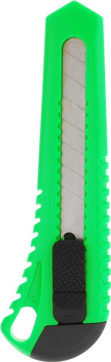 Brauberg Нож канцелярский Универсальный цвет зеленый 18 мм230917_зеленыйУниверсальный канцелярский нож Brauberg - это фирменная продукция от известного немецкого бренда, которая предназначена для резки бумаги, картона, различных пленок и мягкого пластика. Нож оснащен резиновыми вставками и автофиксацией лезвия системы AUTO-LOCK. Удобная, эргономичная ручка ножа делает его использование максимально безопасным. Многосекционное лезвие изготовлено из высококачественной стали. Канцелярский нож подходит для дома, офиса, дачи, а также для работы и творчества.