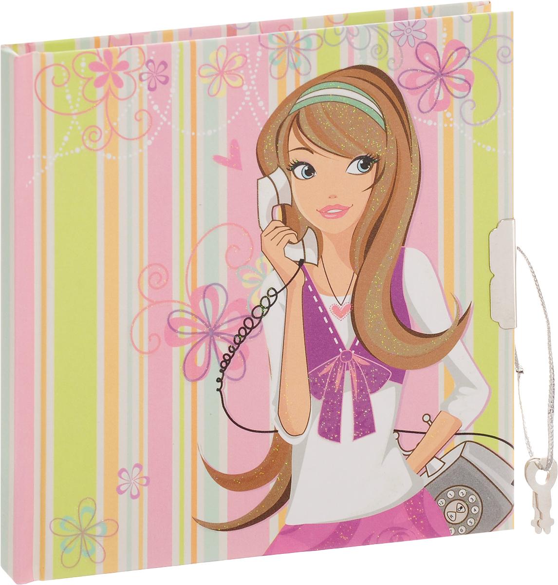 Brauberg Блокнот 60 листов в линейку цвет розовый салатовый 123549123549_розовый, салатовыйБлокнот Brauberg - незаменимый атрибут современного человека, необходимый для рабочих и повседневных записей. Этот девичий блокнот с украшенной блестками обложкой и ароматизированными листами станет отличным подарком для юной модницы. А очаровательный замочек надежно сохранит все секреты. Внутренний блок состоит из 60 листов белой бумаги. Стандартная линовка в линейку без полей. Листы блокнота на клеевой основе.