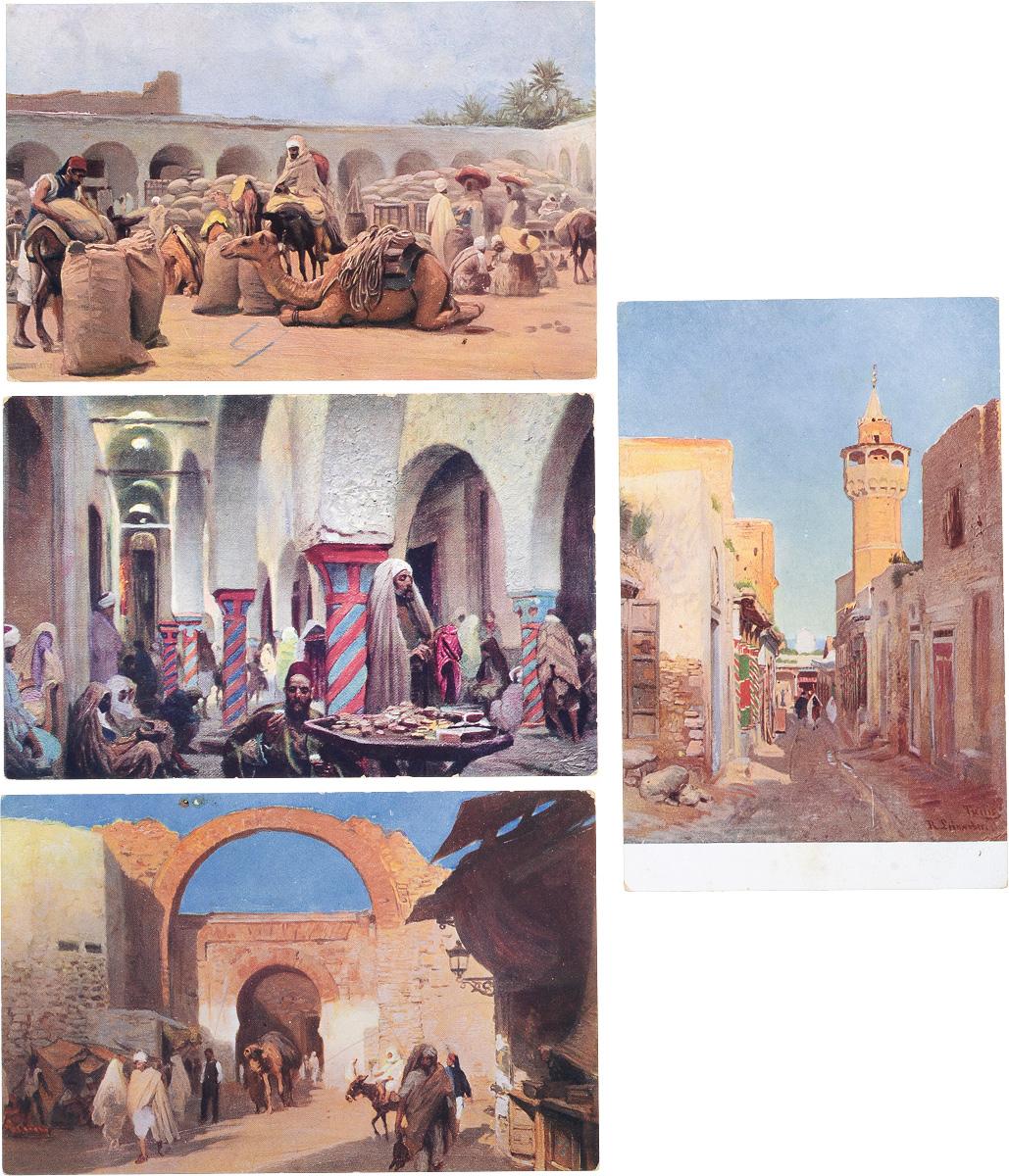 Восток. Комплект из 4 открыток