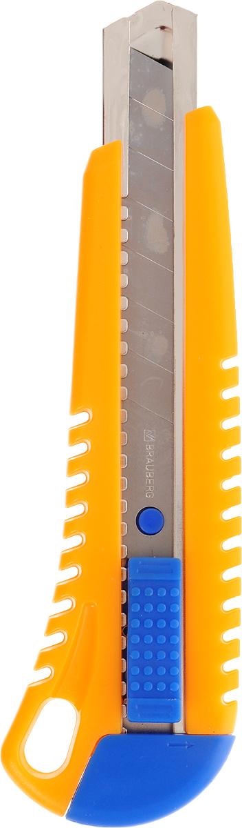Brauberg Нож канцелярский цвет желтый 18 мм