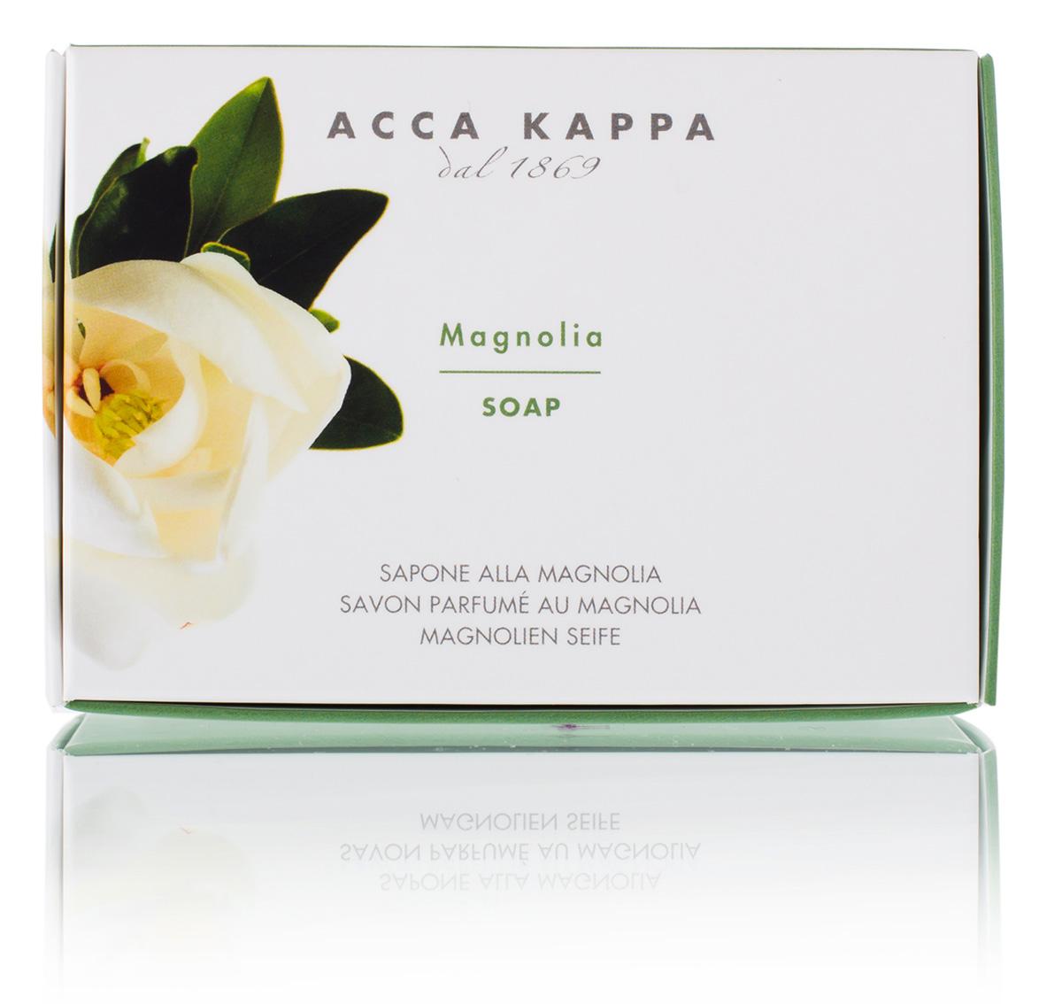 Acca Kappa Мыло туалетное Магнолия 150 гр853318Мыло создано с использованием традиционных методов из сырья исключительно растительного происхождения.