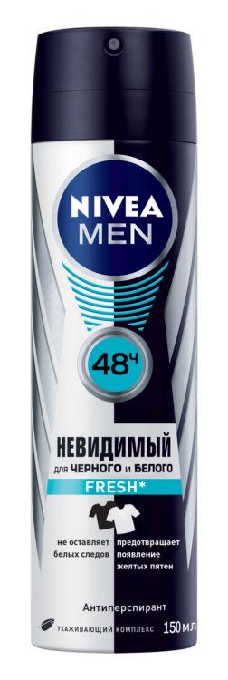 Nivea Део-Спрей мужской Невидимый для черного и белого Fresh спрей 150 мл 10043383