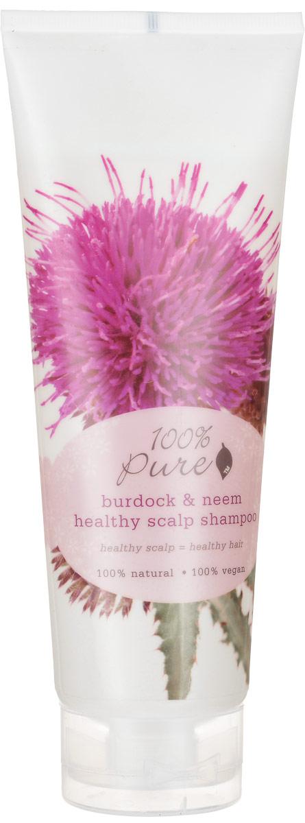 100% Pure Шампунь для оздоровления кожи головы Репейник и Ним, 236 мл1HCSBNHS8ozРепейник и Ним - шампунь для оздоровления кожи головы! Увлажняющие, супер мягкие шампуни нежно очищают кожу головы и придают волосам блеск, упругость и силу! Укрепляют волосы, делают их более сильными и здоровыми! Не содержат синтетических химических веществ, искусственных красителей, химических консервантов, сульфатов.