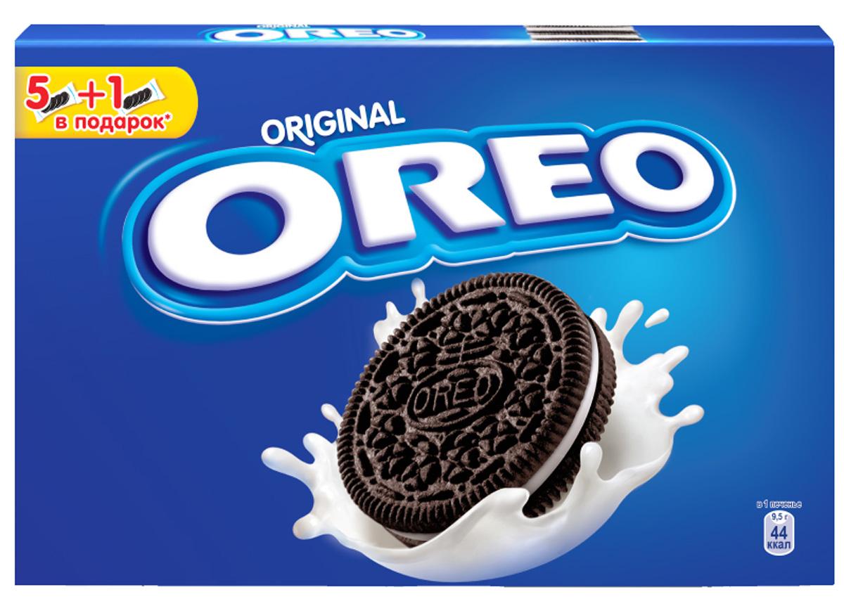 Oreo печенье, 228 г4008562Печенье Oreo любит весь мир! Взрослым и детям нравится забавный способ, которым едят Орео. Покрути, лизни, обмакни - Орео. Попробуйте, это весело и очень легко. Печенье с какао и начинкой с ванильным вкусом безусловно порадует и детей, и взрослых!