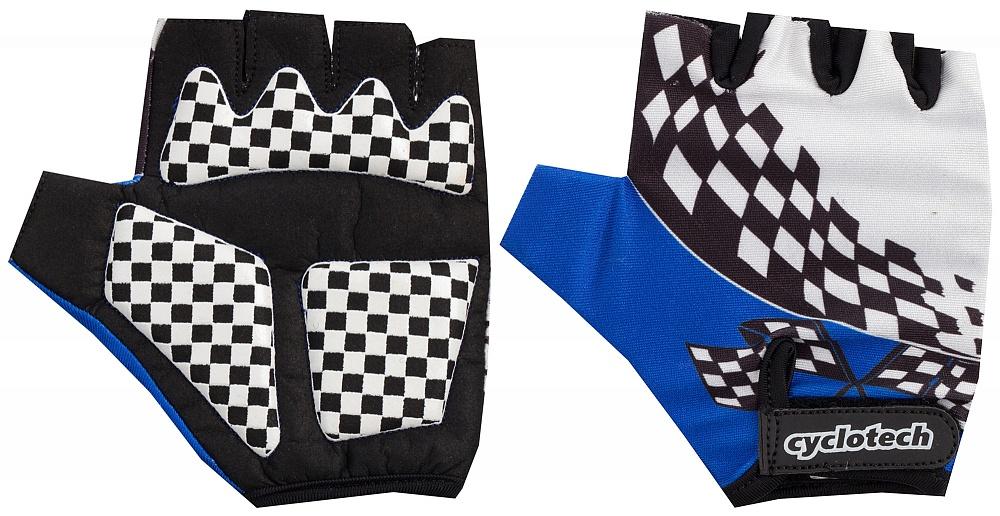 Велоперчатки Cyclotech Racer Kids Bike, цвет: черный, синий. Размер XXS15RACBПрочные удобные перчатки отлично вентилируются и не дают руке скользить на руле.