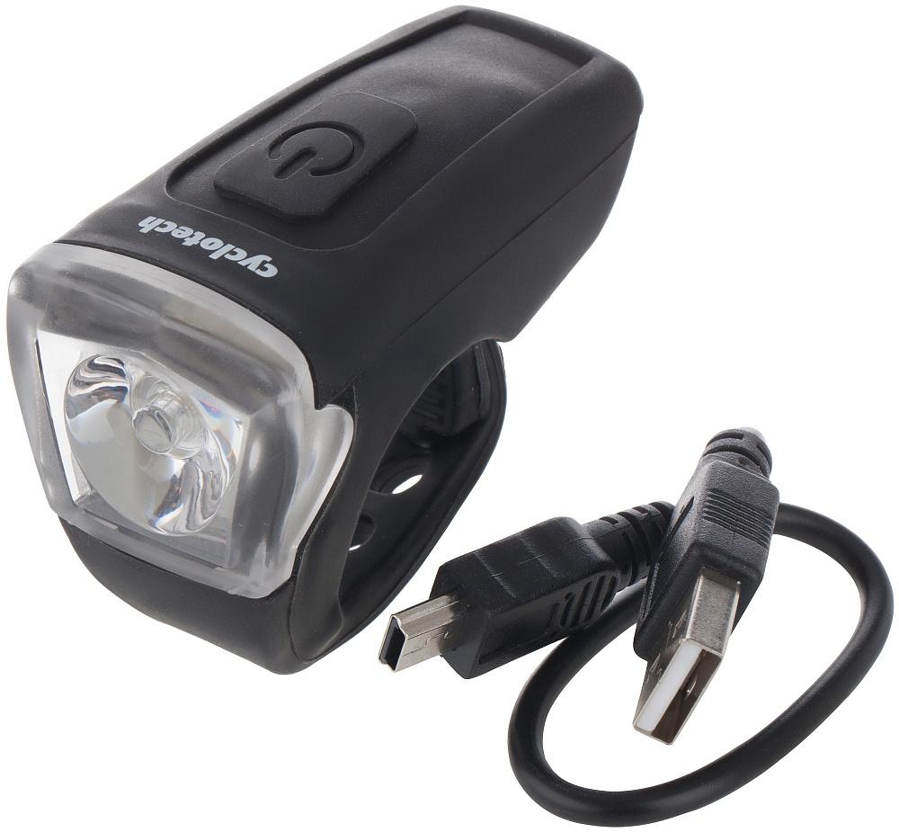Фонарь велосипедный Cyclotech, передний. CFL-5CFL-5Передний велосипедный фонарь с аккумулятором. Заряжается через мини-USB-порт, шнур в комплекте. Количество светодиодов 1. Количество режимов работы: 3. Мощность светового потока - 15 люменов.