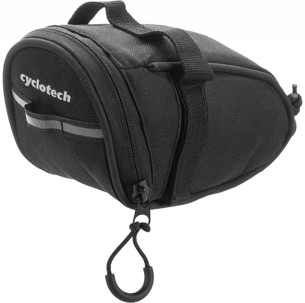 Велосумка Cyclotech, цвет: черный. CYC-6BLNCYC-6BLNНебольшая подседельная сумка со светоотражающим элементом. Фиксируется за рамки седла и подседельный штырь.