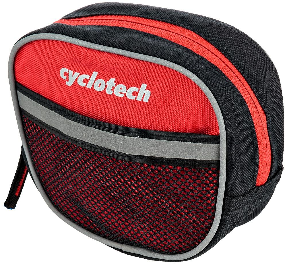 Велосумка Cyclotech, цвет: красныйCYC-7RВелосипедная сумка с креплением на руль. Позволит разместить все необходимые мелочи - ключи, телефон, кошелек.