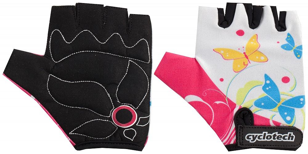 Велоперчатки Cyclotech Summer Kids Bike, цвет: черный, розовый. Размер XXSSUMM-PДетские велосипедные перчатки не дают руке скользить на руле и гасят неприятные вибрации.