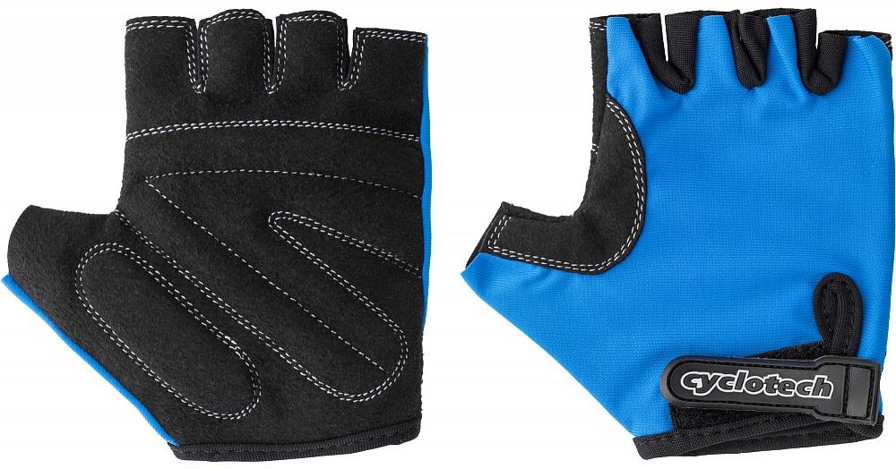 Велоперчатки Cyclotech Wind Kids Bike, цвет: черный, синий. Размер XXSWIND-KДетские велосипедные перчатки не дают руке скользить на руле и гасят неприятные вибрации.