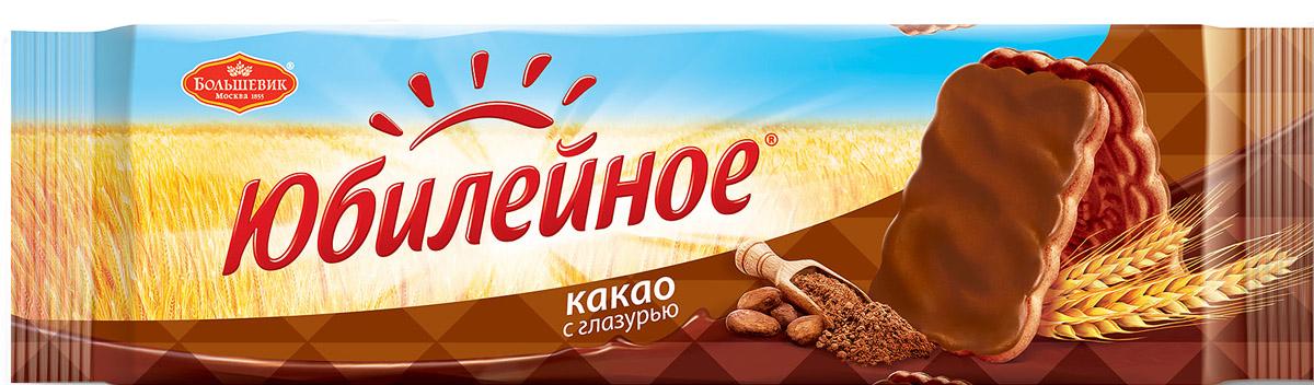 Юбилейное Печенье какао с глазурью, 116 г