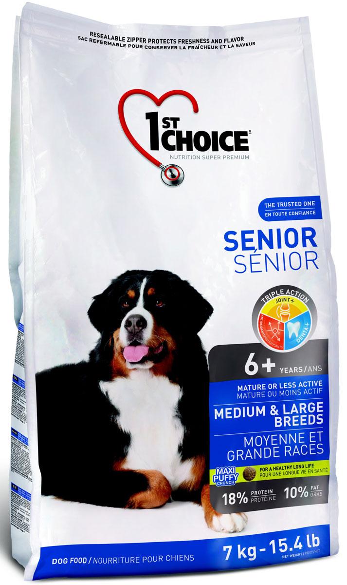Корм сухой 1st Choice, для пожилых собак средних и крупных пород, курица, 7 кг102.329