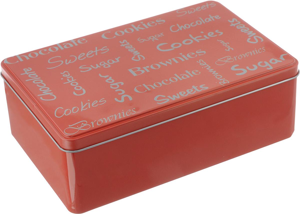 Коробка для чайных пакетиков Kesper, цвет: красный, 20 х 13 х 7 см3820-8_красныйКоробка для хранения Kesper изготовлена из металла, крышка изделия декорирована надписями. Такая коробка подойдет для хранения чайных пакетиков и любых других бытовых мелочей. Она надежно защитит содержимое от пыли, влаги, грязи и насекомых. Удобная коробка для хранения станет прекрасным приобретением для кухни.