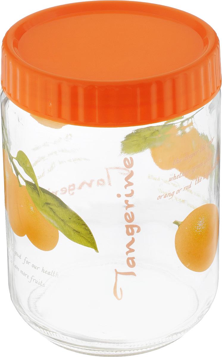 Банка для сыпучих продуктов Foshan Nanhai, цвет: оранжевый, прозрачный, 1,2 лLY7120_оранжевыйБанка для сыпучих продуктов Foshan Nanhai изготовлена из прочного стекла. Прозрачные стенки позволяют видеть содержимое. Внешняя поверхность декорирована ярким рисунком. Банка снабжена закручивающейся крышкой из прочного пластика. Изделие подходит для хранения разнообразных сыпучих продуктов, таких как крупы, сахар, соль, чай, кофе и многое другое. Банка сбережет ваши продукты от влаги, пыли и насекомых и надолго сохранит их свежими. Можно мыть в посудомоечной машине. Диаметр банки: 11 см. Высота банки (с учетом крышки): 16,5 см.