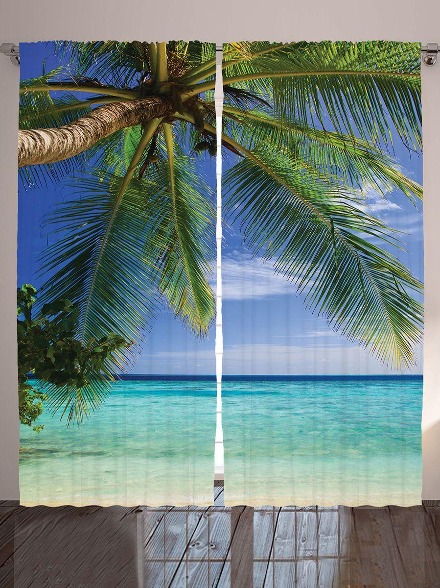 Комплект фотоштор Magic Lady Под пальмой, на ленте, высота 265 см. шсг_10049шсг_10049Компания Сэмболь изготавливает шторы из высококачественного сатена (полиэстер 100%). При изготовлении используются специальные гипоаллергенные чернила для прямой печати по ткани, безопасные для человека и животных. Экологичность продукции Magic lady и безопасность для окружающей среды подтверждены сертификатом Oeko-Tex Standard 100. Крепление: крючки для крепления на шторной ленте (50 шт). Возможно крепление на трубу. Внимание! При нанесении сублимационной печати на ткань технологическим методом при температуре 240°С, возможно отклонение полученных размеров (указанных на этикетке и сайте) от стандартных на + - 3-5 см. Производитель старается максимально точно передать цвета изделия на фотографиях, однако искажения неизбежны и фактический цвет изделия может отличаться от воспринимаемого по фото. Обратите внимание! Шторы изготовлены из полиэстра сатенового переплетения, а не из сатина (хлопок). Размер одного полотна шторы: 145х265 см. В комплекте 2...