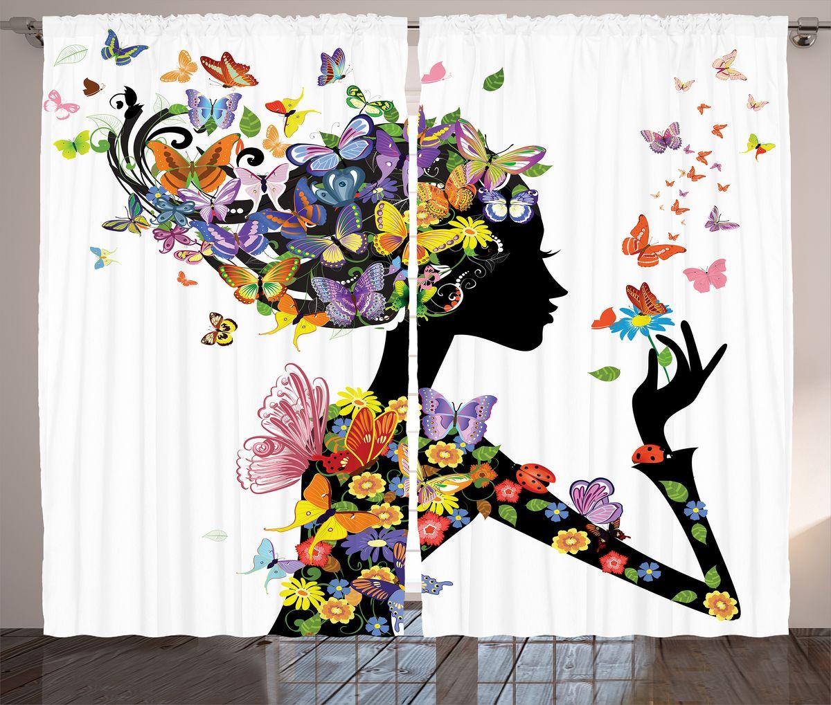 Комплект фотоштор Magic Lady Цветочная фея с бабочками, на ленте, высота 265 см. шсг_11017шсг_11017Компания Сэмболь изготавливает шторы из высококачественного сатена (полиэстер 100%). При изготовлении используются специальные гипоаллергенные чернила для прямой печати по ткани, безопасные для человека и животных. Экологичность продукции Magic lady и безопасность для окружающей среды подтверждены сертификатом Oeko-Tex Standard 100. Крепление: крючки для крепления на шторной ленте (50 шт). Возможно крепление на трубу. Внимание! При нанесении сублимационной печати на ткань технологическим методом при температуре 240°С, возможно отклонение полученных размеров (указанных на этикетке и сайте) от стандартных на + - 3-5 см. Производитель старается максимально точно передать цвета изделия на фотографиях, однако искажения неизбежны и фактический цвет изделия может отличаться от воспринимаемого по фото. Обратите внимание! Шторы изготовлены из полиэстра сатенового переплетения, а не из сатина (хлопок). Размер одного полотна шторы: 145х265 см. В комплекте 2...