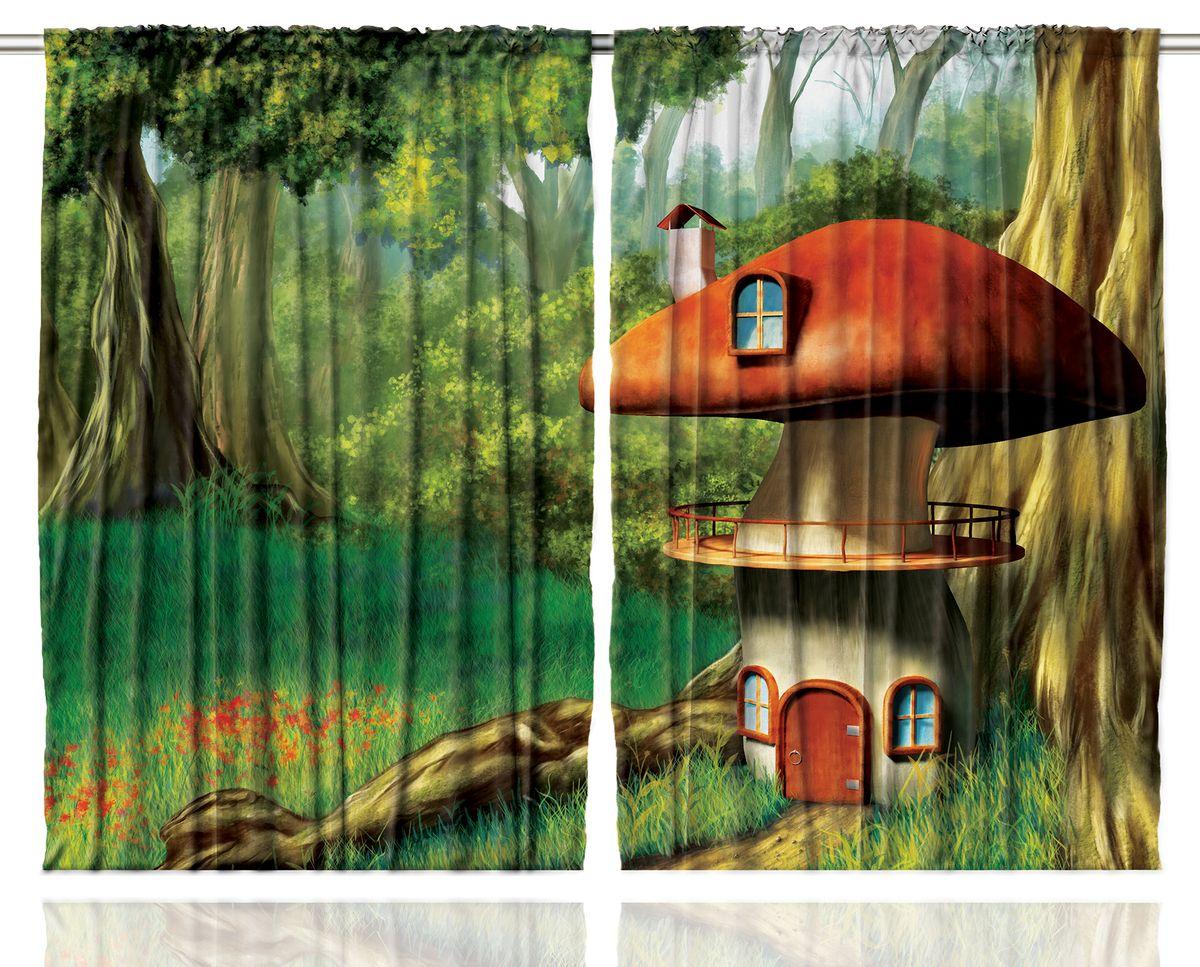 Комплект фотоштор Magic Lady Домик-гриб у ствола большого дерева, на ленте, высота 265 см. шсг_1214шсг_1214Компания Сэмболь изготавливает шторы из высококачественного сатена (полиэстер 100%). При изготовлении используются специальные гипоаллергенные чернила для прямой печати по ткани, безопасные для человека и животных. Экологичность продукции Magic lady и безопасность для окружающей среды подтверждены сертификатом Oeko-Tex Standard 100. Крепление: крючки для крепления на шторной ленте (50 шт). Возможно крепление на трубу. Внимание! При нанесении сублимационной печати на ткань технологическим методом при температуре 240°С, возможно отклонение полученных размеров (указанных на этикетке и сайте) от стандартных на + - 3-5 см. Производитель старается максимально точно передать цвета изделия на фотографиях, однако искажения неизбежны и фактический цвет изделия может отличаться от воспринимаемого по фото. Обратите внимание! Шторы изготовлены из полиэстра сатенового переплетения, а не из сатина (хлопок). Размер одного полотна шторы: 145х265 см. В комплекте 2...