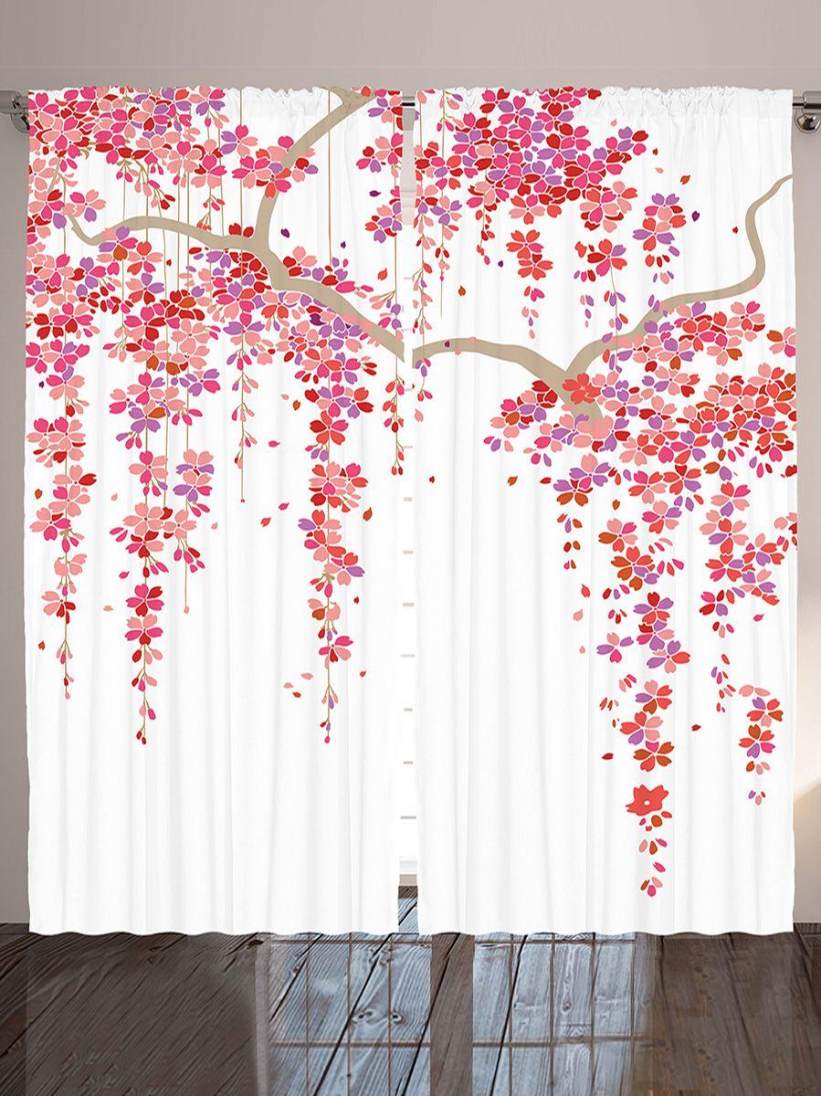 Комплект фотоштор Magic Lady Ветви сакуры, на ленте, высота 265 см. шсг_12332шсг_12332Компания Сэмболь изготавливает шторы из высококачественного сатена (полиэстер 100%). При изготовлении используются специальные гипоаллергенные чернила для прямой печати по ткани, безопасные для человека и животных. Экологичность продукции Magic lady и безопасность для окружающей среды подтверждены сертификатом Oeko-Tex Standard 100. Крепление: крючки для крепления на шторной ленте (50 шт). Возможно крепление на трубу. Внимание! При нанесении сублимационной печати на ткань технологическим методом при температуре 240°С, возможно отклонение полученных размеров (указанных на этикетке и сайте) от стандартных на + - 3-5 см. Производитель старается максимально точно передать цвета изделия на фотографиях, однако искажения неизбежны и фактический цвет изделия может отличаться от воспринимаемого по фото. Обратите внимание! Шторы изготовлены из полиэстра сатенового переплетения, а не из сатина (хлопок). Размер одного полотна шторы: 145х265 см. В комплекте 2...