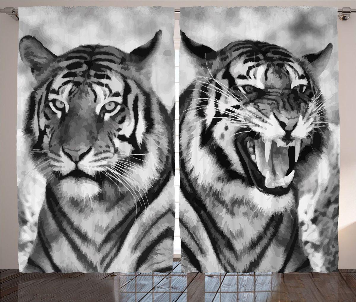 Комплект фотоштор Magic Lady Черно-белые тигры, на ленте, высота 265 см. шсг_12727шсг_12727Компания Сэмболь изготавливает шторы из высококачественного сатена (полиэстер 100%). При изготовлении используются специальные гипоаллергенные чернила для прямой печати по ткани, безопасные для человека и животных. Экологичность продукции Magic lady и безопасность для окружающей среды подтверждены сертификатом Oeko-Tex Standard 100. Крепление: крючки для крепления на шторной ленте (50 шт). Возможно крепление на трубу. Внимание! При нанесении сублимационной печати на ткань технологическим методом при температуре 240°С, возможно отклонение полученных размеров (указанных на этикетке и сайте) от стандартных на + - 3-5 см. Производитель старается максимально точно передать цвета изделия на фотографиях, однако искажения неизбежны и фактический цвет изделия может отличаться от воспринимаемого по фото. Обратите внимание! Шторы изготовлены из полиэстра сатенового переплетения, а не из сатина (хлопок). Размер одного полотна шторы: 145х265 см. В комплекте 2...