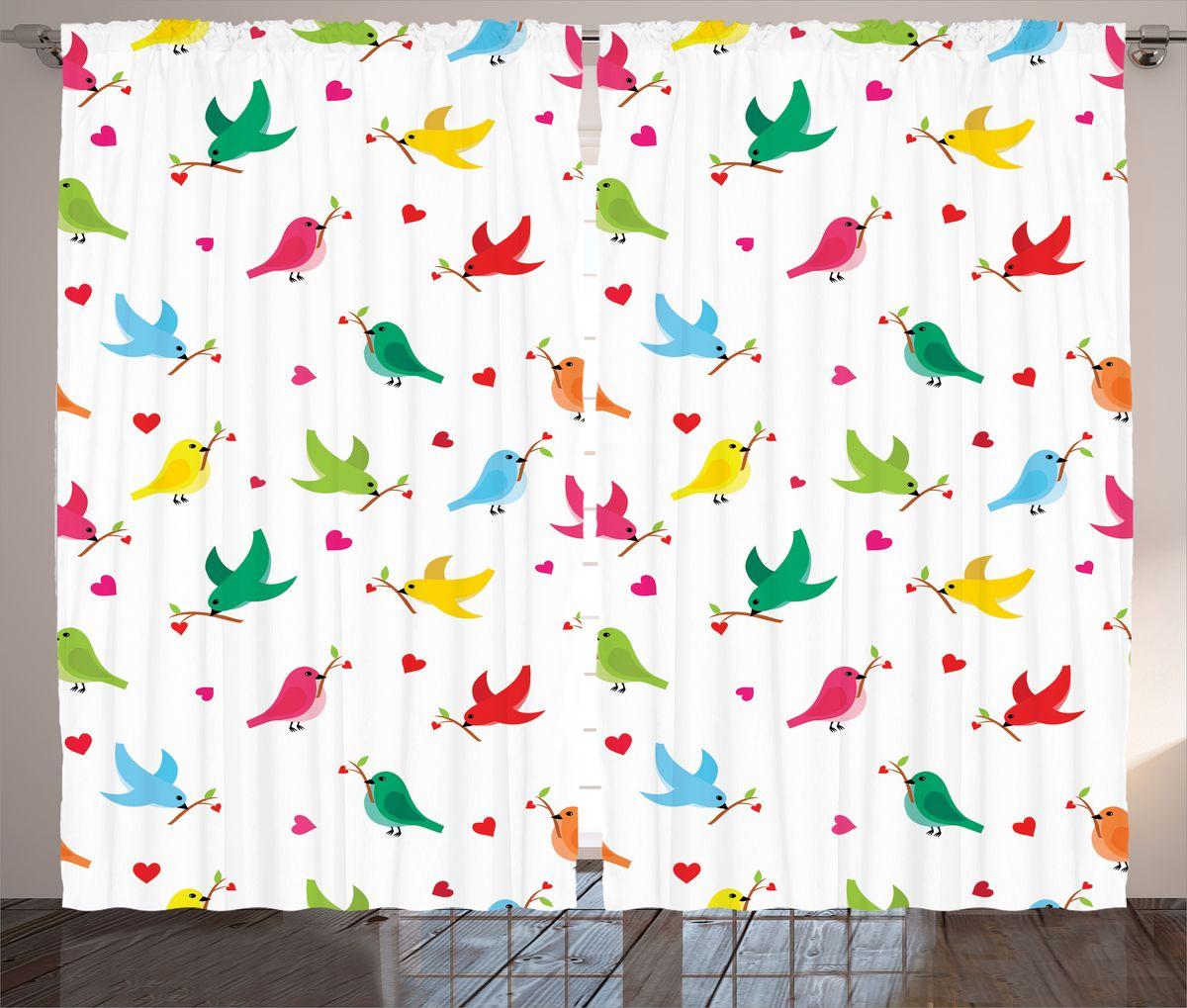 Комплект фотоштор Magic Lady Разноцветные птички, на ленте, высота 265 см. шсг_14285шсг_14285Компания Сэмболь изготавливает шторы из высококачественного сатена (полиэстер 100%). При изготовлении используются специальные гипоаллергенные чернила для прямой печати по ткани, безопасные для человека и животных. Экологичность продукции Magic lady и безопасность для окружающей среды подтверждены сертификатом Oeko-Tex Standard 100. Крепление: крючки для крепления на шторной ленте (50 шт). Возможно крепление на трубу. Внимание! При нанесении сублимационной печати на ткань технологическим методом при температуре 240°С, возможно отклонение полученных размеров (указанных на этикетке и сайте) от стандартных на + - 3-5 см. Производитель старается максимально точно передать цвета изделия на фотографиях, однако искажения неизбежны и фактический цвет изделия может отличаться от воспринимаемого по фото. Обратите внимание! Шторы изготовлены из полиэстра сатенового переплетения, а не из сатина (хлопок). Размер одного полотна шторы: 145х265 см. В комплекте 2...