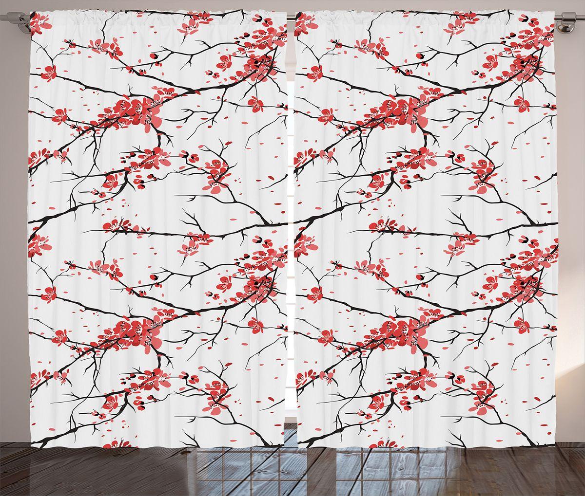 Комплект фотоштор Magic Lady Тонки ветви в цветах, на ленте, высота 265 см. шсг_14320шсг_14320Компания Сэмболь изготавливает шторы из высококачественного сатена (полиэстер 100%). При изготовлении используются специальные гипоаллергенные чернила для прямой печати по ткани, безопасные для человека и животных. Экологичность продукции Magic lady и безопасность для окружающей среды подтверждены сертификатом Oeko-Tex Standard 100. Крепление: крючки для крепления на шторной ленте (50 шт). Возможно крепление на трубу. Внимание! При нанесении сублимационной печати на ткань технологическим методом при температуре 240°С, возможно отклонение полученных размеров (указанных на этикетке и сайте) от стандартных на + - 3-5 см. Производитель старается максимально точно передать цвета изделия на фотографиях, однако искажения неизбежны и фактический цвет изделия может отличаться от воспринимаемого по фото. Обратите внимание! Шторы изготовлены из полиэстра сатенового переплетения, а не из сатина (хлопок). Размер одного полотна шторы: 145х265 см. В комплекте 2...