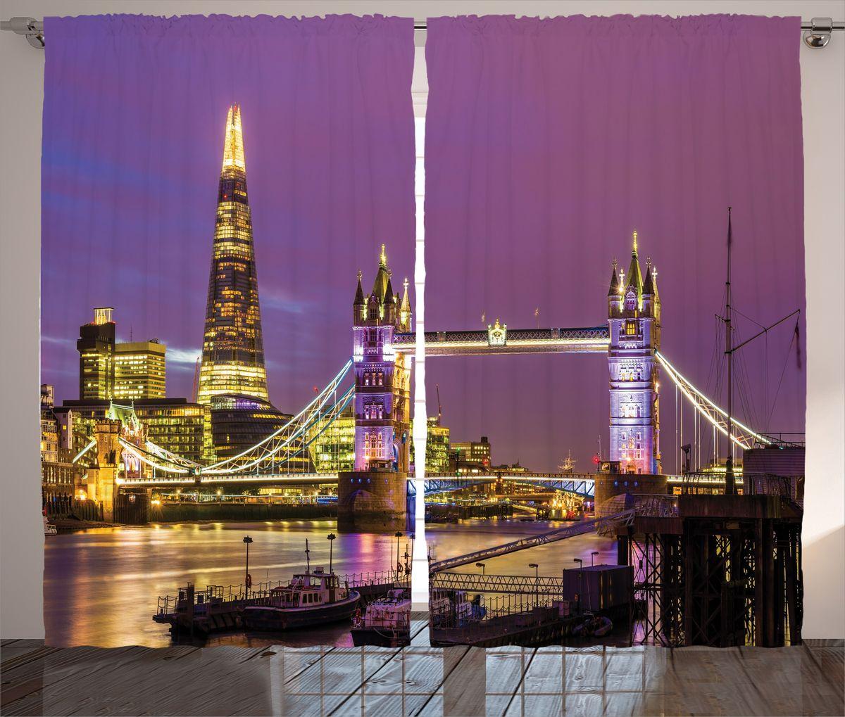 Комплект фотоштор Magic Lady Фиолетовый закат над Лондоном, на ленте, высота 265 см. шсг_14658шсг_14658Компания Сэмболь изготавливает шторы из высококачественного сатена (полиэстер 100%). При изготовлении используются специальные гипоаллергенные чернила для прямой печати по ткани, безопасные для человека и животных. Экологичность продукции Magic lady и безопасность для окружающей среды подтверждены сертификатом Oeko-Tex Standard 100. Крепление: крючки для крепления на шторной ленте (50 шт). Возможно крепление на трубу. Внимание! При нанесении сублимационной печати на ткань технологическим методом при температуре 240°С, возможно отклонение полученных размеров (указанных на этикетке и сайте) от стандартных на + - 3-5 см. Производитель старается максимально точно передать цвета изделия на фотографиях, однако искажения неизбежны и фактический цвет изделия может отличаться от воспринимаемого по фото. Обратите внимание! Шторы изготовлены из полиэстра сатенового переплетения, а не из сатина (хлопок). Размер одного полотна шторы: 145х265 см. В комплекте 2...