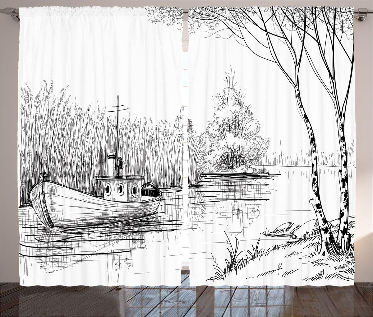 Комплект фотоштор Magic Lady Лодка на тихой реке, на ленте, высота 265 см. шсг_14968шсг_14968Компания Сэмболь изготавливает шторы из высококачественного сатена (полиэстер 100%). При изготовлении используются специальные гипоаллергенные чернила для прямой печати по ткани, безопасные для человека и животных. Экологичность продукции Magic lady и безопасность для окружающей среды подтверждены сертификатом Oeko-Tex Standard 100. Крепление: крючки для крепления на шторной ленте (50 шт). Возможно крепление на трубу. Внимание! При нанесении сублимационной печати на ткань технологическим методом при температуре 240°С, возможно отклонение полученных размеров (указанных на этикетке и сайте) от стандартных на + - 3-5 см. Производитель старается максимально точно передать цвета изделия на фотографиях, однако искажения неизбежны и фактический цвет изделия может отличаться от воспринимаемого по фото. Обратите внимание! Шторы изготовлены из полиэстра сатенового переплетения, а не из сатина (хлопок). Размер одного полотна шторы: 145х265 см. В комплекте 2...