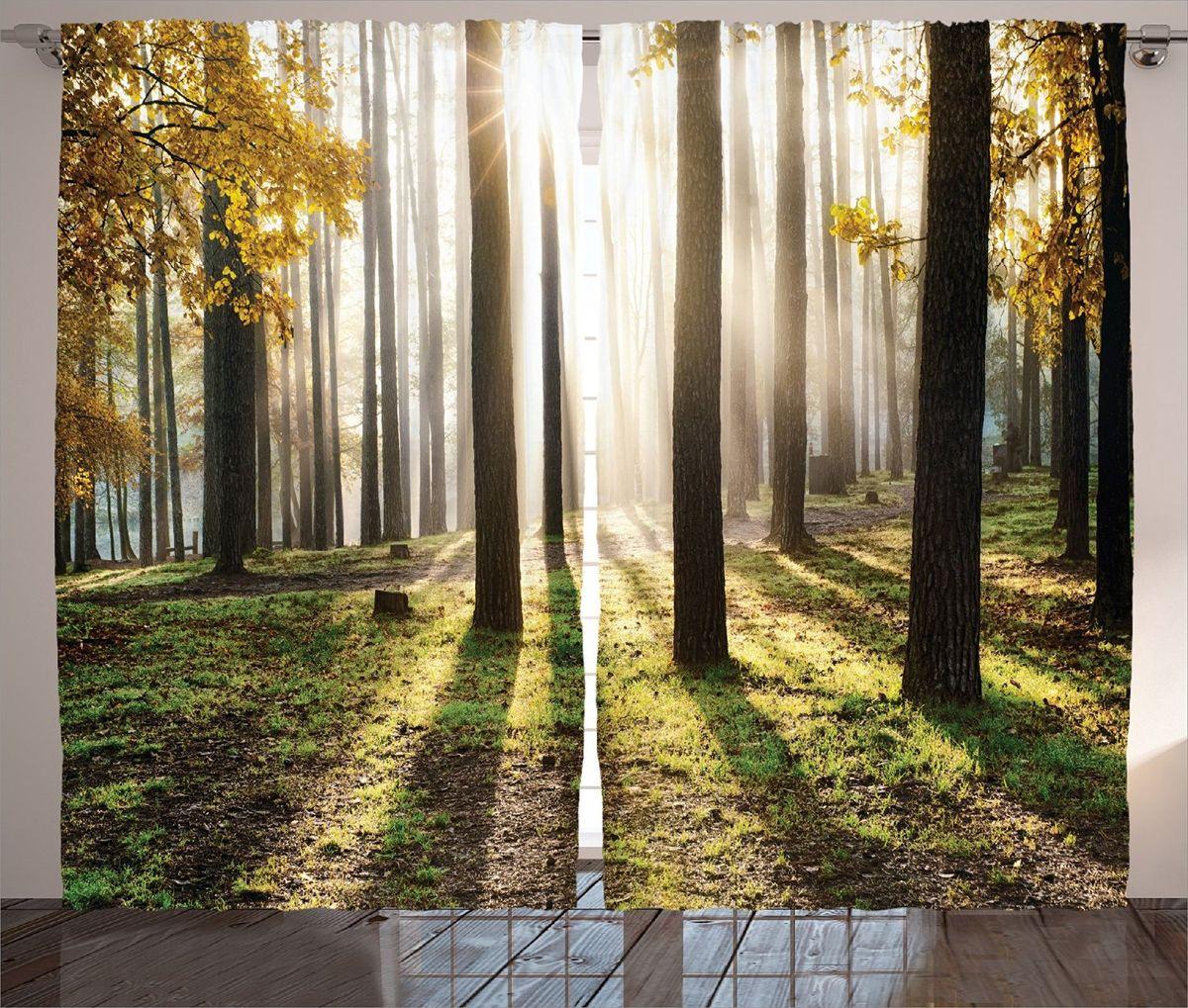 Комплект фотоштор Magic Lady Солнце в осеннем лесу, на ленте, высота 265 см. шсг_15217шсг_15217Компания Сэмболь изготавливает шторы из высококачественного сатена (полиэстер 100%). При изготовлении используются специальные гипоаллергенные чернила для прямой печати по ткани, безопасные для человека и животных. Экологичность продукции Magic lady и безопасность для окружающей среды подтверждены сертификатом Oeko-Tex Standard 100. Крепление: крючки для крепления на шторной ленте (50 шт). Возможно крепление на трубу. Внимание! При нанесении сублимационной печати на ткань технологическим методом при температуре 240°С, возможно отклонение полученных размеров (указанных на этикетке и сайте) от стандартных на + - 3-5 см. Производитель старается максимально точно передать цвета изделия на фотографиях, однако искажения неизбежны и фактический цвет изделия может отличаться от воспринимаемого по фото. Обратите внимание! Шторы изготовлены из полиэстра сатенового переплетения, а не из сатина (хлопок). Размер одного полотна шторы: 145х265 см. В комплекте 2...