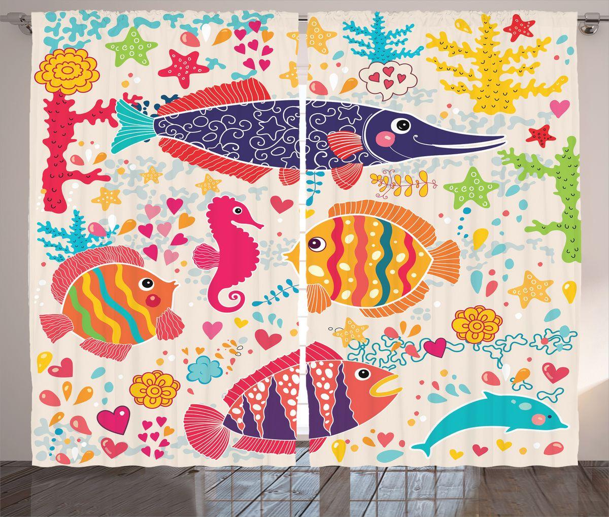 Комплект фотоштор Magic Lady Влюбленные рыбки, на ленте, высота 265 см. шсг_17279шсг_17279Компания Сэмболь изготавливает шторы из высококачественного сатена (полиэстер 100%). При изготовлении используются специальные гипоаллергенные чернила для прямой печати по ткани, безопасные для человека и животных. Экологичность продукции Magic lady и безопасность для окружающей среды подтверждены сертификатом Oeko-Tex Standard 100. Крепление: крючки для крепления на шторной ленте (50 шт). Возможно крепление на трубу. Внимание! При нанесении сублимационной печати на ткань технологическим методом при температуре 240°С, возможно отклонение полученных размеров (указанных на этикетке и сайте) от стандартных на + - 3-5 см. Производитель старается максимально точно передать цвета изделия на фотографиях, однако искажения неизбежны и фактический цвет изделия может отличаться от воспринимаемого по фото. Обратите внимание! Шторы изготовлены из полиэстра сатенового переплетения, а не из сатина (хлопок). Размер одного полотна шторы: 145х265 см. В комплекте 2...