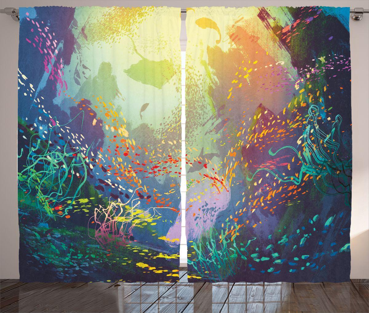 Комплект фотоштор Magic Lady Красота подводного мира, на ленте, высота 265 см. шсг_17281шсг_17281Компания Сэмболь изготавливает шторы из высококачественного сатена (полиэстер 100%). При изготовлении используются специальные гипоаллергенные чернила для прямой печати по ткани, безопасные для человека и животных. Экологичность продукции Magic lady и безопасность для окружающей среды подтверждены сертификатом Oeko-Tex Standard 100. Крепление: крючки для крепления на шторной ленте (50 шт). Возможно крепление на трубу. Внимание! При нанесении сублимационной печати на ткань технологическим методом при температуре 240°С, возможно отклонение полученных размеров (указанных на этикетке и сайте) от стандартных на + - 3-5 см. Производитель старается максимально точно передать цвета изделия на фотографиях, однако искажения неизбежны и фактический цвет изделия может отличаться от воспринимаемого по фото. Обратите внимание! Шторы изготовлены из полиэстра сатенового переплетения, а не из сатина (хлопок). Размер одного полотна шторы: 145х265 см. В комплекте 2...