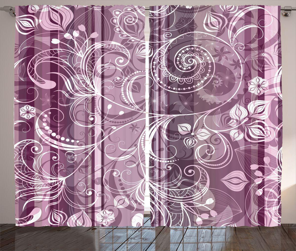 Комплект фотоштор Magic Lady Узоры на лиловом фоне, на ленте, высота 265 см. шсг_17703шсг_17703Компания Сэмболь изготавливает шторы из высококачественного сатена (полиэстер 100%). При изготовлении используются специальные гипоаллергенные чернила для прямой печати по ткани, безопасные для человека и животных. Экологичность продукции Magic lady и безопасность для окружающей среды подтверждены сертификатом Oeko-Tex Standard 100. Крепление: крючки для крепления на шторной ленте (50 шт). Возможно крепление на трубу. Внимание! При нанесении сублимационной печати на ткань технологическим методом при температуре 240°С, возможно отклонение полученных размеров (указанных на этикетке и сайте) от стандартных на + - 3-5 см. Производитель старается максимально точно передать цвета изделия на фотографиях, однако искажения неизбежны и фактический цвет изделия может отличаться от воспринимаемого по фото. Обратите внимание! Шторы изготовлены из полиэстра сатенового переплетения, а не из сатина (хлопок). Размер одного полотна шторы: 145х265 см. В комплекте 2...