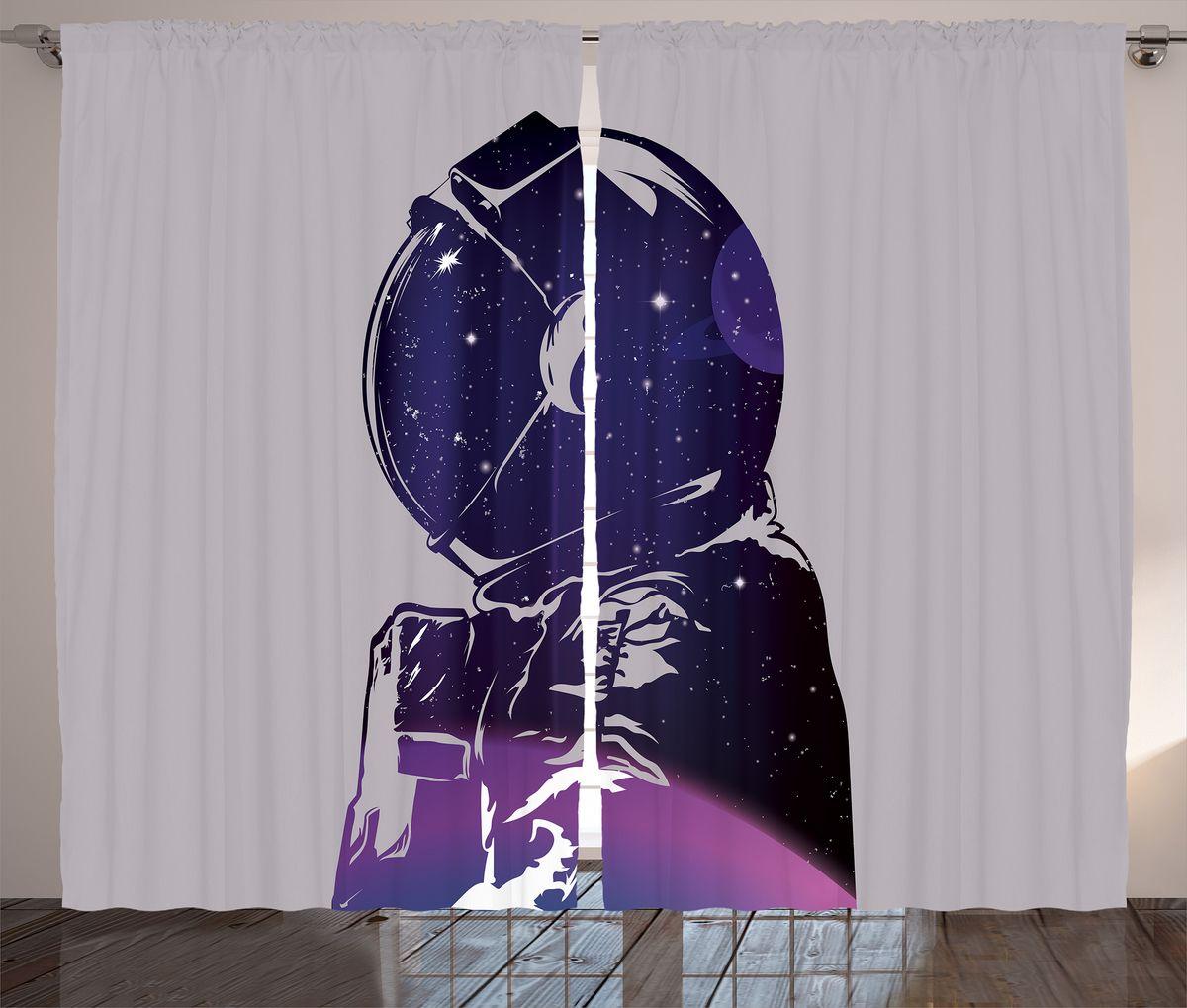 Комплект фотоштор Magic Lady Силуэт космонавта с планетой и звездами, на ленте, высота 265 см. шсг_19938шсг_19938Компания Сэмболь изготавливает шторы из высококачественного сатена (полиэстер 100%). При изготовлении используются специальные гипоаллергенные чернила для прямой печати по ткани, безопасные для человека и животных. Экологичность продукции Magic lady и безопасность для окружающей среды подтверждены сертификатом Oeko-Tex Standard 100. Крепление: крючки для крепления на шторной ленте (50 шт). Возможно крепление на трубу. Внимание! При нанесении сублимационной печати на ткань технологическим методом при температуре 240°С, возможно отклонение полученных размеров (указанных на этикетке и сайте) от стандартных на + - 3-5 см. Производитель старается максимально точно передать цвета изделия на фотографиях, однако искажения неизбежны и фактический цвет изделия может отличаться от воспринимаемого по фото. Обратите внимание! Шторы изготовлены из полиэстра сатенового переплетения, а не из сатина (хлопок). Размер одного полотна шторы: 145х265 см. В комплекте 2...