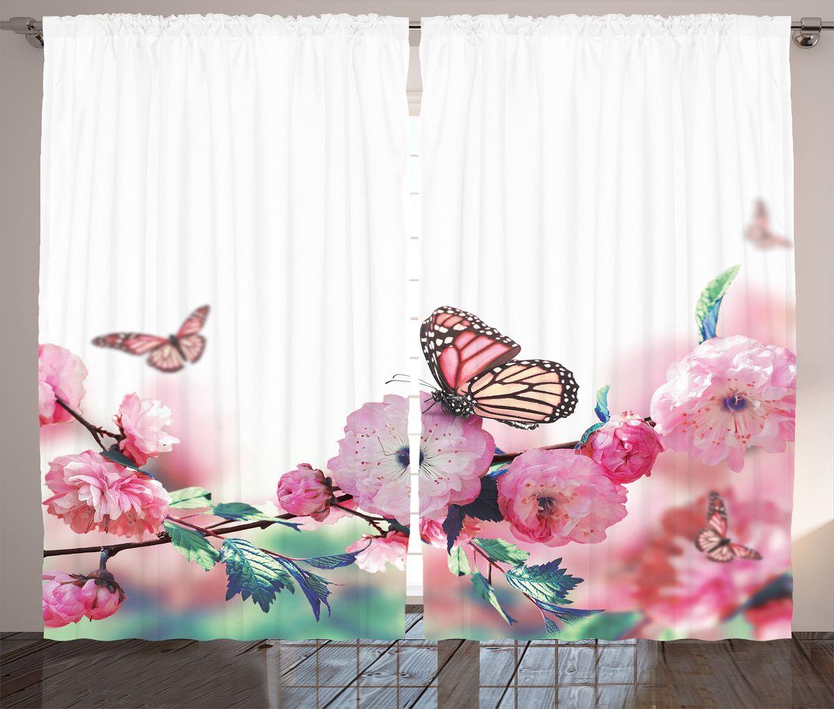 Комплект фотоштор Magic Lady Бабочки на розовых цветах, на ленте, высота 265 см. шсг_2637шсг_2637Компания Сэмболь изготавливает шторы из высококачественного сатена (полиэстер 100%). При изготовлении используются специальные гипоаллергенные чернила для прямой печати по ткани, безопасные для человека и животных. Экологичность продукции Magic lady и безопасность для окружающей среды подтверждены сертификатом Oeko-Tex Standard 100. Крепление: крючки для крепления на шторной ленте (50 шт). Возможно крепление на трубу. Внимание! При нанесении сублимационной печати на ткань технологическим методом при температуре 240°С, возможно отклонение полученных размеров (указанных на этикетке и сайте) от стандартных на + - 3-5 см. Производитель старается максимально точно передать цвета изделия на фотографиях, однако искажения неизбежны и фактический цвет изделия может отличаться от воспринимаемого по фото. Обратите внимание! Шторы изготовлены из полиэстра сатенового переплетения, а не из сатина (хлопок). Размер одного полотна шторы: 145х265 см. В комплекте 2...