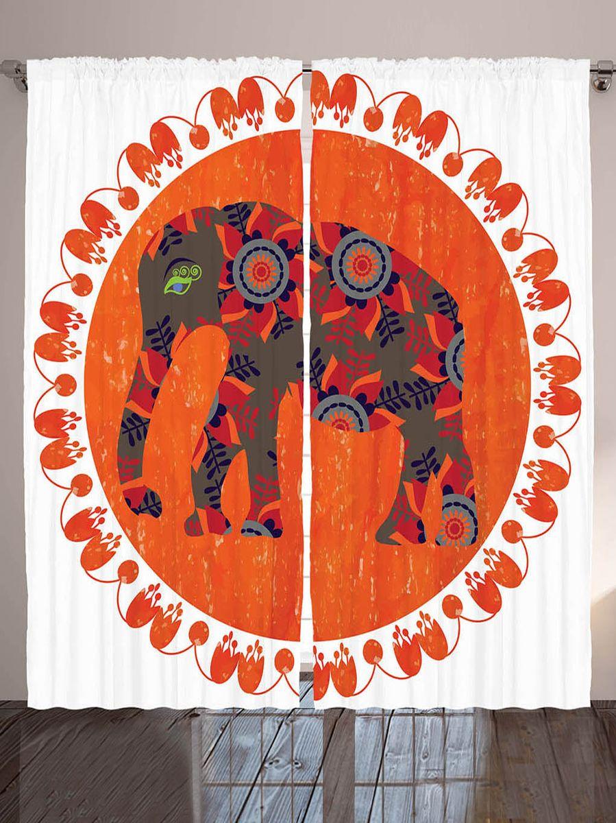 Комплект фотоштор Magic Lady Коричневый слон с листьями и цветами, на ленте, высота 265 см. шсг_8897шсг_8897Компания Сэмболь изготавливает шторы из высококачественного сатена (полиэстер 100%). При изготовлении используются специальные гипоаллергенные чернила для прямой печати по ткани, безопасные для человека и животных. Экологичность продукции Magic lady и безопасность для окружающей среды подтверждены сертификатом Oeko-Tex Standard 100. Крепление: крючки для крепления на шторной ленте (50 шт). Возможно крепление на трубу. Внимание! При нанесении сублимационной печати на ткань технологическим методом при температуре 240°С, возможно отклонение полученных размеров (указанных на этикетке и сайте) от стандартных на + - 3-5 см. Производитель старается максимально точно передать цвета изделия на фотографиях, однако искажения неизбежны и фактический цвет изделия может отличаться от воспринимаемого по фото. Обратите внимание! Шторы изготовлены из полиэстра сатенового переплетения, а не из сатина (хлопок). Размер одного полотна шторы: 145х265 см. В комплекте 2...