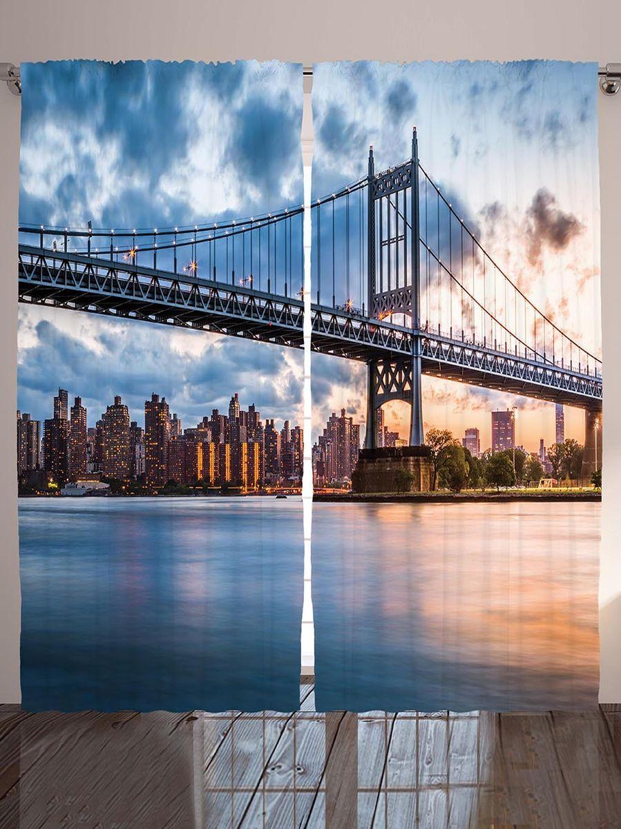 Комплект фотоштор Magic Lady Бруклинский мост, на ленте, высота 265 см. шсг_8988шсг_8988Компания Сэмболь изготавливает шторы из высококачественного сатена (полиэстер 100%). При изготовлении используются специальные гипоаллергенные чернила для прямой печати по ткани, безопасные для человека и животных. Экологичность продукции Magic lady и безопасность для окружающей среды подтверждены сертификатом Oeko-Tex Standard 100. Крепление: крючки для крепления на шторной ленте (50 шт). Возможно крепление на трубу. Внимание! При нанесении сублимационной печати на ткань технологическим методом при температуре 240°С, возможно отклонение полученных размеров (указанных на этикетке и сайте) от стандартных на + - 3-5 см. Производитель старается максимально точно передать цвета изделия на фотографиях, однако искажения неизбежны и фактический цвет изделия может отличаться от воспринимаемого по фото. Обратите внимание! Шторы изготовлены из полиэстра сатенового переплетения, а не из сатина (хлопок). Размер одного полотна шторы: 145х265 см. В комплекте 2...
