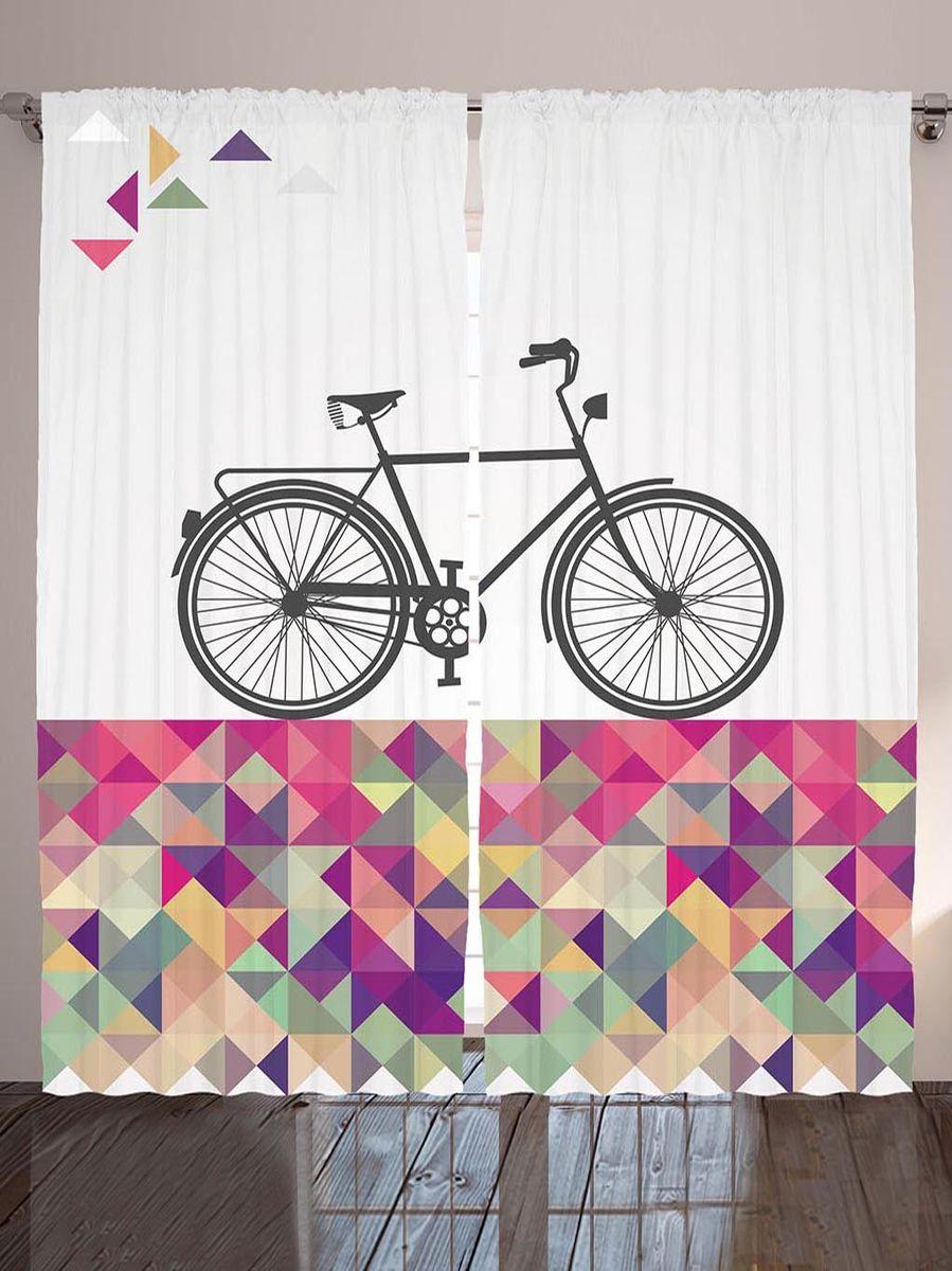 Комплект фотоштор Magic Lady Серый велосипед на разноцветной плитке, на ленте, высота 265 см. шсг_9012шсг_9012Компания Сэмболь изготавливает шторы из высококачественного сатена (полиэстер 100%). При изготовлении используются специальные гипоаллергенные чернила для прямой печати по ткани, безопасные для человека и животных. Экологичность продукции Magic lady и безопасность для окружающей среды подтверждены сертификатом Oeko-Tex Standard 100. Крепление: крючки для крепления на шторной ленте (50 шт). Возможно крепление на трубу. Внимание! При нанесении сублимационной печати на ткань технологическим методом при температуре 240°С, возможно отклонение полученных размеров (указанных на этикетке и сайте) от стандартных на + - 3-5 см. Производитель старается максимально точно передать цвета изделия на фотографиях, однако искажения неизбежны и фактический цвет изделия может отличаться от воспринимаемого по фото. Обратите внимание! Шторы изготовлены из полиэстра сатенового переплетения, а не из сатина (хлопок). Размер одного полотна шторы: 145х265 см. В комплекте 2...