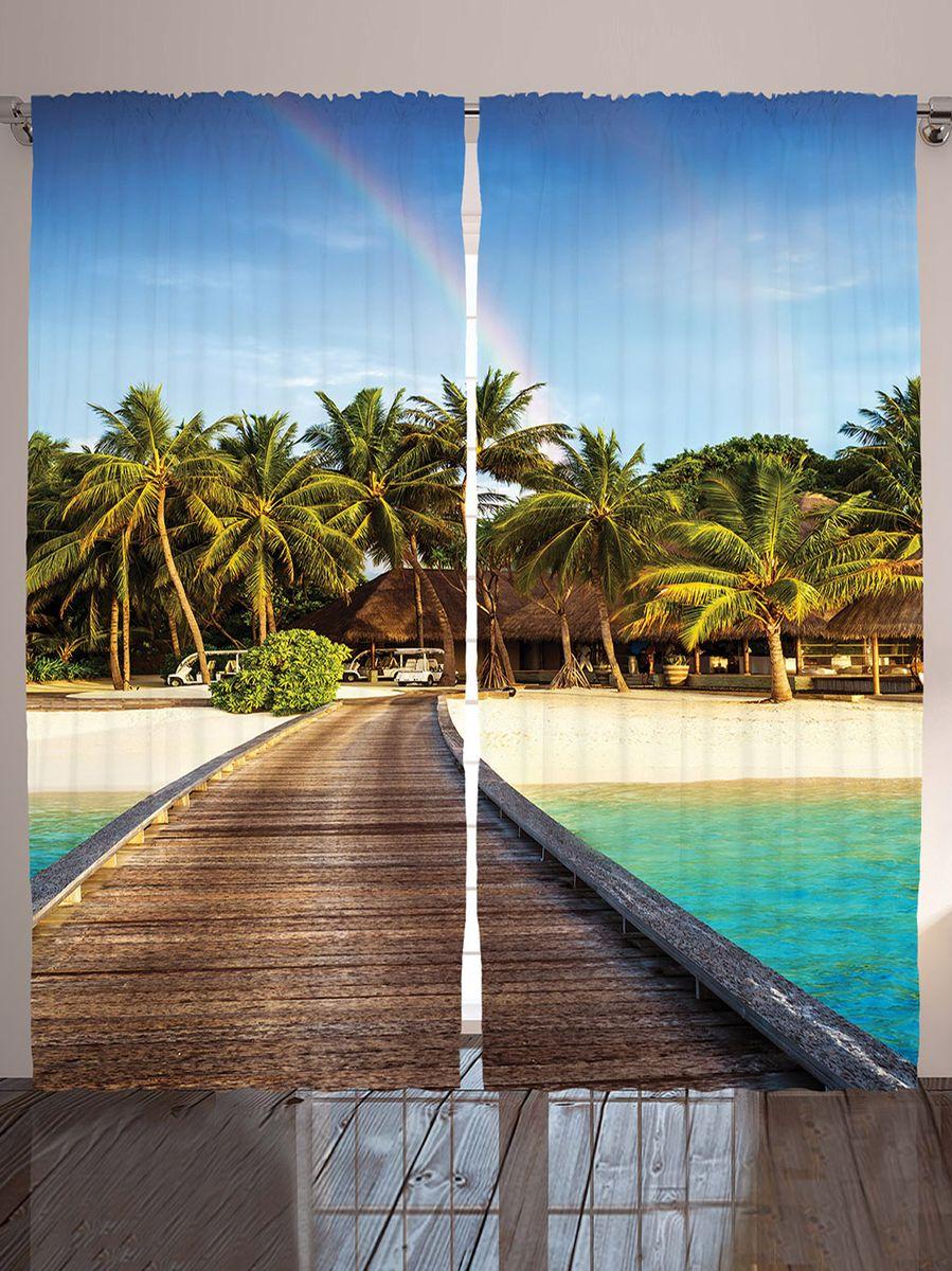 Комплект фотоштор Magic Lady Бунгало на пляже, на ленте, высота 265 см. шсг_9148шсг_9148Компания Сэмболь изготавливает шторы из высококачественного сатена (полиэстер 100%). При изготовлении используются специальные гипоаллергенные чернила для прямой печати по ткани, безопасные для человека и животных. Экологичность продукции Magic lady и безопасность для окружающей среды подтверждены сертификатом Oeko-Tex Standard 100. Крепление: крючки для крепления на шторной ленте (50 шт). Возможно крепление на трубу. Внимание! При нанесении сублимационной печати на ткань технологическим методом при температуре 240°С, возможно отклонение полученных размеров (указанных на этикетке и сайте) от стандартных на + - 3-5 см. Производитель старается максимально точно передать цвета изделия на фотографиях, однако искажения неизбежны и фактический цвет изделия может отличаться от воспринимаемого по фото. Обратите внимание! Шторы изготовлены из полиэстра сатенового переплетения, а не из сатина (хлопок). Размер одного полотна шторы: 145х265 см. В комплекте 2...