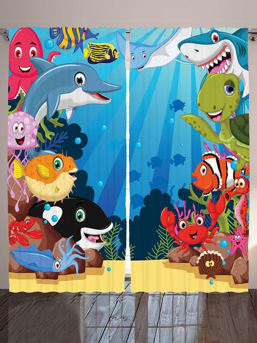Комплект фотоштор Magic Lady Дельфин и рыбы клоун, еж, на ленте, высота 265 см. шсг_9520шсг_9520Компания Сэмболь изготавливает шторы из высококачественного сатена (полиэстер 100%). При изготовлении используются специальные гипоаллергенные чернила для прямой печати по ткани, безопасные для человека и животных. Экологичность продукции Magic lady и безопасность для окружающей среды подтверждены сертификатом Oeko-Tex Standard 100. Крепление: крючки для крепления на шторной ленте (50 шт). Возможно крепление на трубу. Внимание! При нанесении сублимационной печати на ткань технологическим методом при температуре 240°С, возможно отклонение полученных размеров (указанных на этикетке и сайте) от стандартных на + - 3-5 см. Производитель старается максимально точно передать цвета изделия на фотографиях, однако искажения неизбежны и фактический цвет изделия может отличаться от воспринимаемого по фото. Обратите внимание! Шторы изготовлены из полиэстра сатенового переплетения, а не из сатина (хлопок). Размер одного полотна шторы: 145х265 см. В комплекте 2...