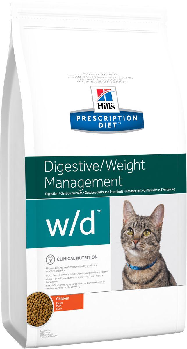 Корм сухой диетический Hills W/D для кошек, для лечения сахарного диабета, запоров, колитов, 5 кг4328Сухой корм Hills W/D - полноценный диетический рацион для кошек, для регулирования уровня глюкозы в крови (при диабете), снижения избыточного веса и регулирования метаболизма жиров в случаях гиперлипидемии. Содержит низкий уровень жира и глюкозосодержащих углеводов, высокий уровень незаменимых жирных кислот и пониженную энергетическую ценность. Монодиета, не требует дополнений. Рекомендуемая продолжительность диетотерапии при регулировании уровня глюкозы - до 6 месяцев; при регулировании обмена жиров - до 2 месяцев; при уменьшении избыточного веса - до достижения оптимального веса. Состав: зерновые злаки, масла и жиры, экстракты растительного белка, производные растительного происхождения, мясо и пептиды животного происхождения, минералы. Источник углеводов: кукуруза, рис. Анализ: белок 37,2%, жир 9,1%, незаменимые жирные кислоты 2,8%, крахмал 26,4%, общий сахар 0,2%, клетчатка 8,5%, зола 5,4%, кальций 0,98%, фосфор 0,78%, натрий...