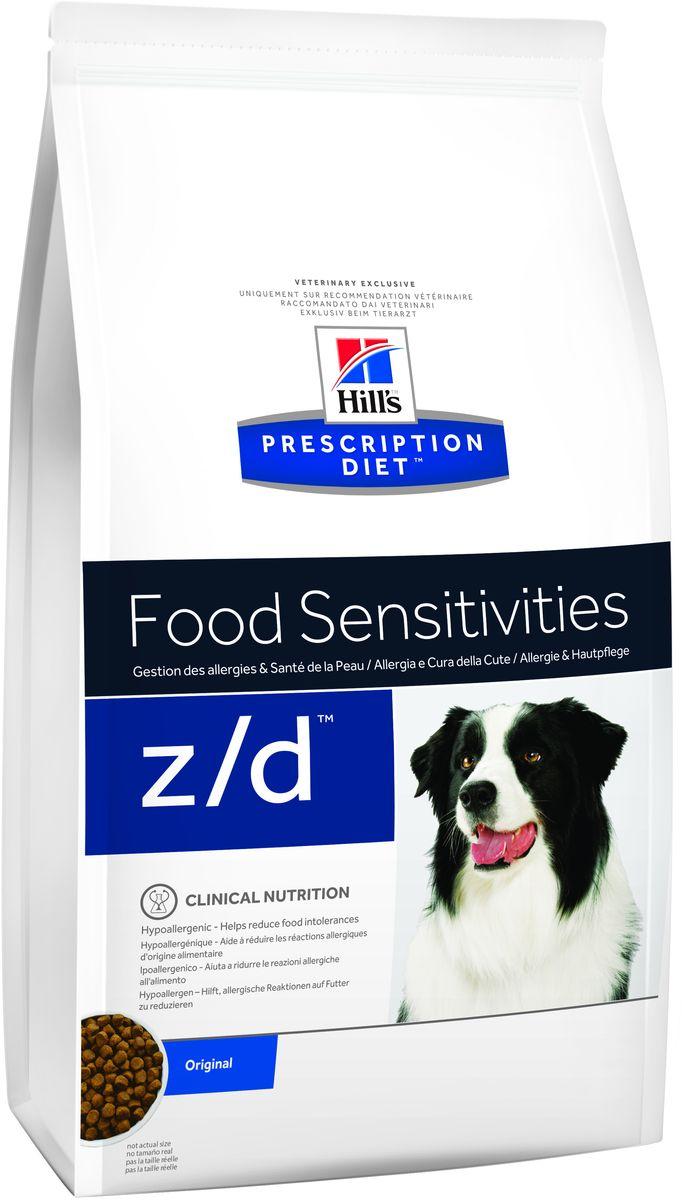 Корм сухой диетический Hills Z/D для собак, для лечения острых пищевых аллергий, 10 кг5341Сбалансированный лечебный корм для собак Hills Z/D содержит особую формулу с пониженным содержанием аллергенов, благодаря чему является щадящей диетой для собак с чувствительным пищеварением. Пищевая аллергия и непереносимость могут стать причиной таких серьезных проблем, как чувствительная или раздраженная кожа, проблемы с шерстью и ушами, расстройство пищеварения. Собаки с пищевой аллергией или непереносимостью, как правило, показывают негативную реакцию на протеины, содержащиеся в пище. Ключевые преимущества корма: - содержит легкоусвояемые протеины, снижающие риск аллергических реакций, - содержит один источник углеводов, благодаря чему обладает меньшим количеством аллергенов в своем составе. - легкоусвояемые углеводы и жиры снижают нагрузку на желудочно-кишечный тракт, - обогащен Омега-3 и Омега-6 жирными кислотами для здоровой кожи и блестящей шерсти. Рекомендации по кормлению: Монодиета не требует...